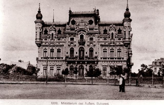Palatul Ministerului de Externe (Palatul Sturdza) în perioada interbelică.