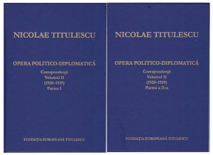 Coperti Corespondenta  N. Titulescu, volumul II (1920–1939)